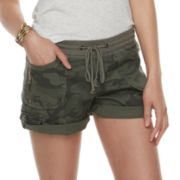 Juniors' Unionbay Christy Convertible Cuffed Midi Shorts