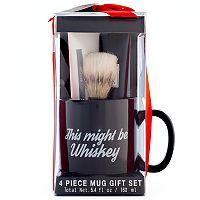 Tri-Coastal Design Men's Milgau Black Ceramic Mug Shaving Set