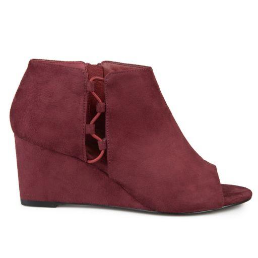 Journee Collection Cut-Out Open Toe Women's Wedge Heels
