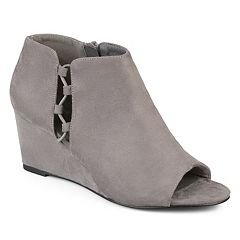 Journee Collection Cut-Out Open Toe Women's Wedge Heels