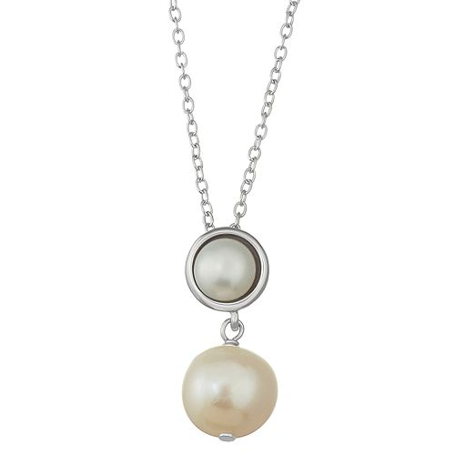 Sterling Silver Freshwater Cultured Pearl Pendant Necklace