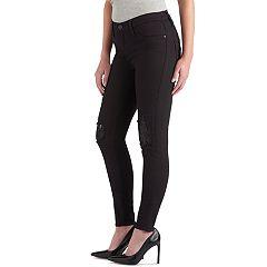 Women's Rock & Republic® Kashmiere Ripped Sequin Jean Leggings