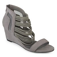 Journee Collection Multi-Strap Open Toe Women's Wedge Heels
