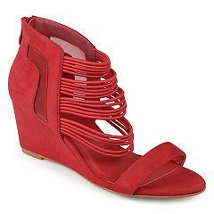 Journee Collection Multi-Strap Open Toe Women's Wedge Heels