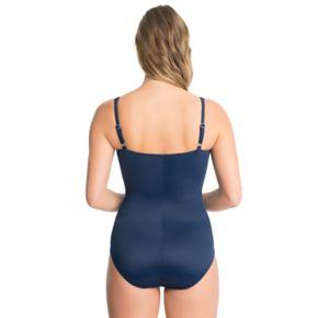 Women's Croft & Barrow® Bust Minimizer Twist-Front One-Piece Swimsuit