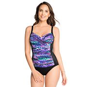 Women's Croft & Barrow® Bust Minimizer Twist-Front One-Piece Swimsuit