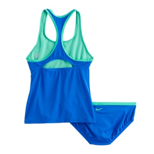 Girls 7-14 Nike 2-pc. Racerback Tankini Swimsuit Set