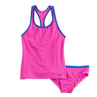Girls 7-14 Nike 2 pc Racerback Tankini Swimsuit Set