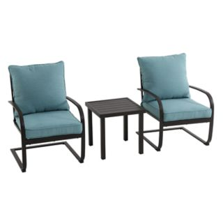 SONOMA Goods for Life? Burbank C-Spring Patio Chair & End Table 3-piece Set