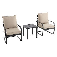 SONOMA Goods for Life™ Burbank C-Spring Patio Chair & End Table 3-piece Set