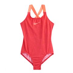 Girls 7-14 Nike Crossback Graphic Swimsuit