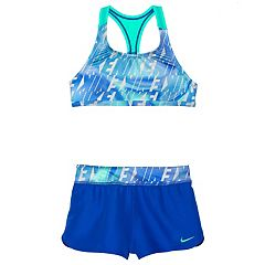 Girls 7-14 Nike Racerback Bikini Top & Shorts Swimsuit Set