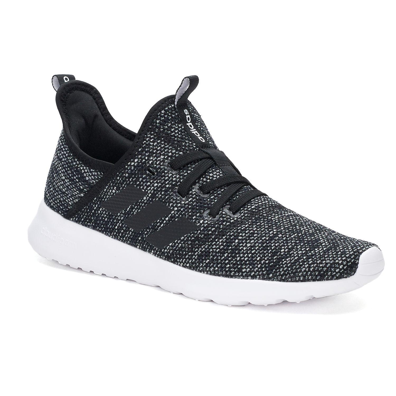 adidas Cloudfoam Pure Women\u0027s Sneakers. White Black Black White