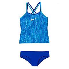 Girls 7-14 Nike Spiderback Tankini Top & Bottoms Swimsuit Set