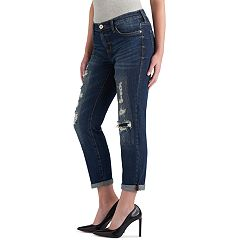 Women's Rock & Republic® Indee Destructed Boyfriend Jeans