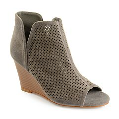 1c1f48fb938e Womens Journee Collection Peep Toe Boots - Shoes