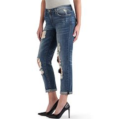Women's Rock & Republic® Indee Ripped Boyfriend Jeans
