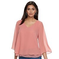 Women's Jennifer Lopez Layered Chiffon Blouse