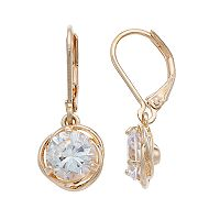Napier Cubic Zirconia Love Knot Nickel Free Drop Earrings
