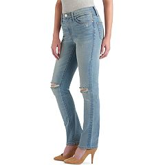 Women's Rock & Republic® Kaia Ripped Straight-Leg Jeans