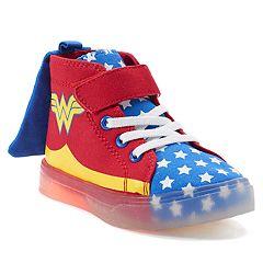 DC Comics Wonder Woman Toddler Girls' Light Up High Top Sneakers