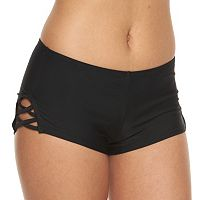 Mix and Match Criss-Cross High-Waisted Swim Shorts