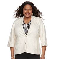 Plus Size Napa Valley Linen Jacket