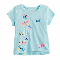 Baby Girl Jumping Beans® Glittery Butterfly Graphic Tee