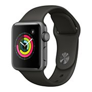 Apple Watch Series 3 (GPS) 38mm Space Gray Aluminum Case with Gray Sport Band