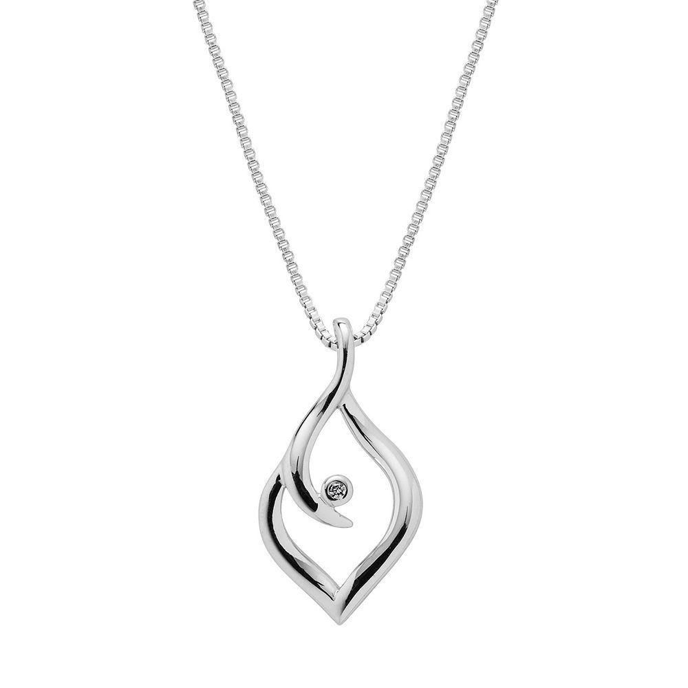 Boston Bay Diamonds Sterling Silver Diamond Accent Marquise Pendant