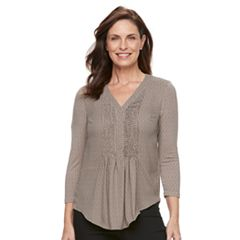 Women's Dana Buchman Pleated Popover Top