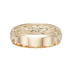 Men's 10k Gold Textured Wedding Band