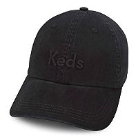 Women's Keds Embroidered Logo Washed & Brushed Cotton Baseball Cap
