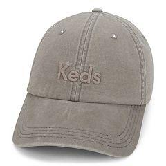 Women's Keds Embroidered Logo Washed & Brushed Cotton Baseball Cap