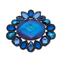 Napier Blue Stone Cluster Broach Pin