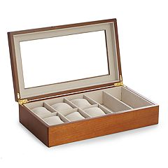 Bey-Berk Wood Watch and Sunglasses Storage Box