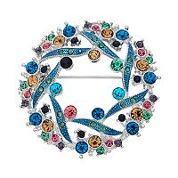 Napier Swirl Wreath Pin
