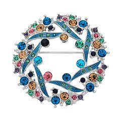 Napier Swirl Wreath Pin