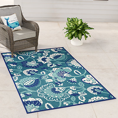 SONOMA Goods for Life? Jacobean Floral Indoor Outdoor Rug