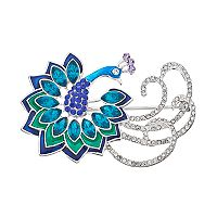Napier Blue Peacock Pin