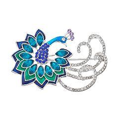 Napier Blue Peacock Pin