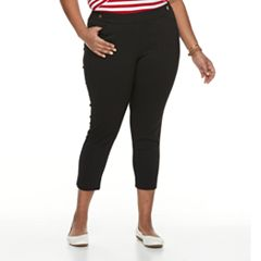 Plus Size Napa Valley Pull-On Ankle Pants
