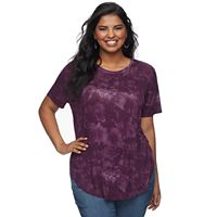 Juniors' Plus Size Mudd® Tie-Dye Tee