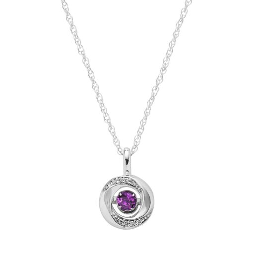Brilliance in Motion Amethyst & Diamond Accent Knot Pendant