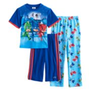 Boys 4-8 PJ Masks 3-Piece Pajama Set