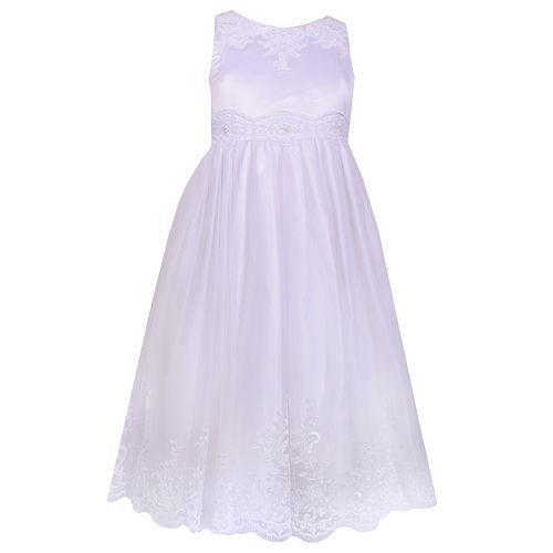 9f9037f13d64 Girls 7-16 Bonnie Jean Bow Back Satin Tulle Ballerina Dress