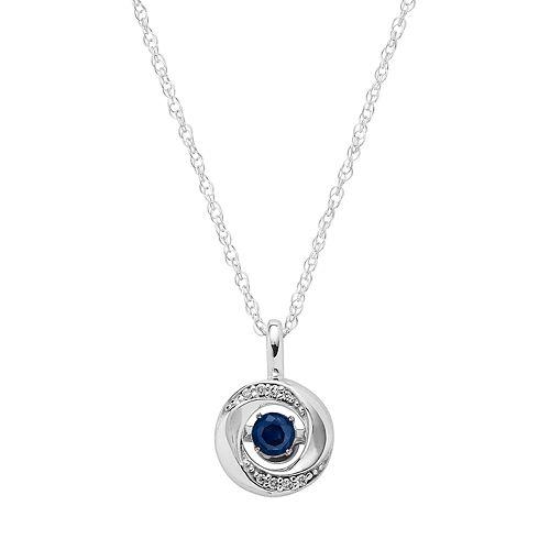 Brilliance in Motion Sapphire & Diamond Accent Knot Pendant