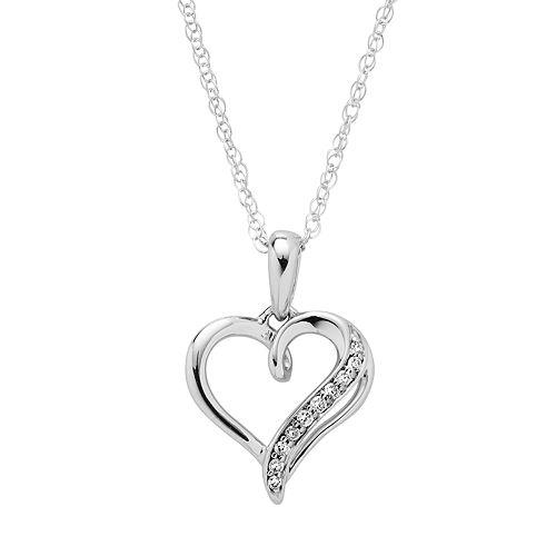 Boston Bay Diamonds Sterling Silver Diamond Accent Heart Pendant