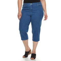 Plus Size Just My Size Tummy Control Capris