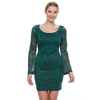 Juniors' Liberty Love Lace Bodycon Dress